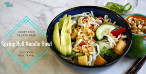 Spring Roll Inspired Noodle Bowl