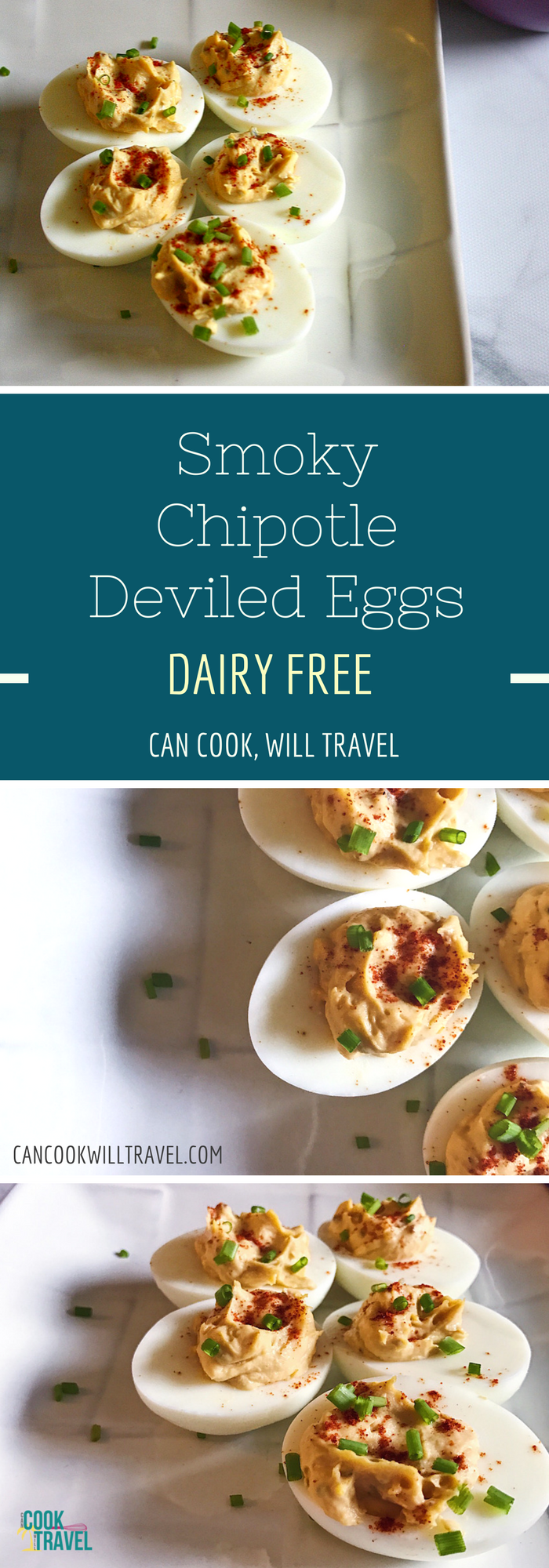 Easy Chipotle Deviled Eggs - Can Cook, Will Travel