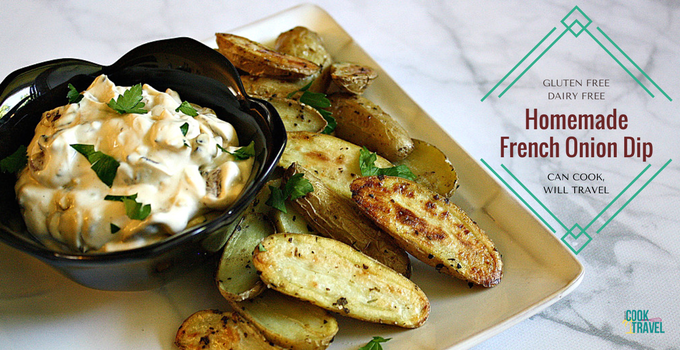 Dairy Free Homemade French Onion Dip