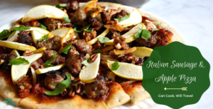Gluten & Dairy Free Rustic Sausage Apple Pizza