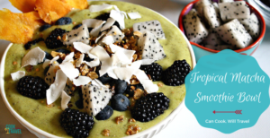 Matcha Mango Pineapple Smoothie Bowl