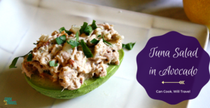 Lemon Tuna Salad in Avocado