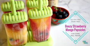 Boozy Strawberry Mango Popsicles For the Adults