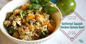 Addictive Butternut Squash Chicken Quinoa Bowl
