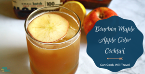 Maple Bourbon Apple Cider Cocktail