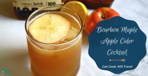 Maple Bourbon Apple Cider Cocktail