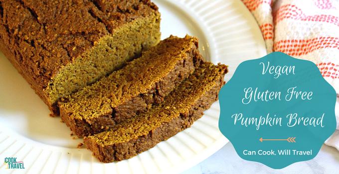 Vegan Gluten Free Pumpkin Bread