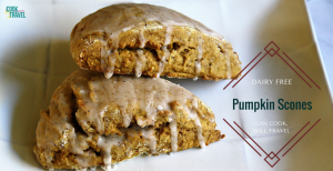 Pumpkin Spice Glazed Scones