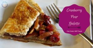 Rustic Dairy Free Cranberry Pear Galette