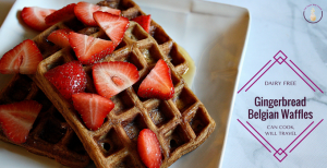 Spice-Filled Gingerbread Waffles for the Holiday Win!