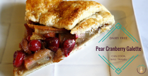 Rustic Pear Cranberry Galette is Wintry Perfection