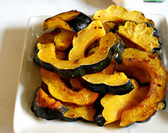 Roasted Maple Acorn Squash = An Easy Fall Side