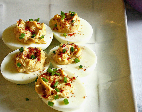 Easy Chipotle Deviled Eggs