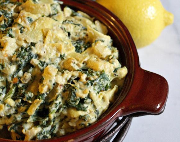 Spicy Kale Artichoke Vegan Dip