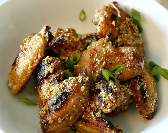 Garlic Parmesan Wings (Minus Parm) = Hello Game Day